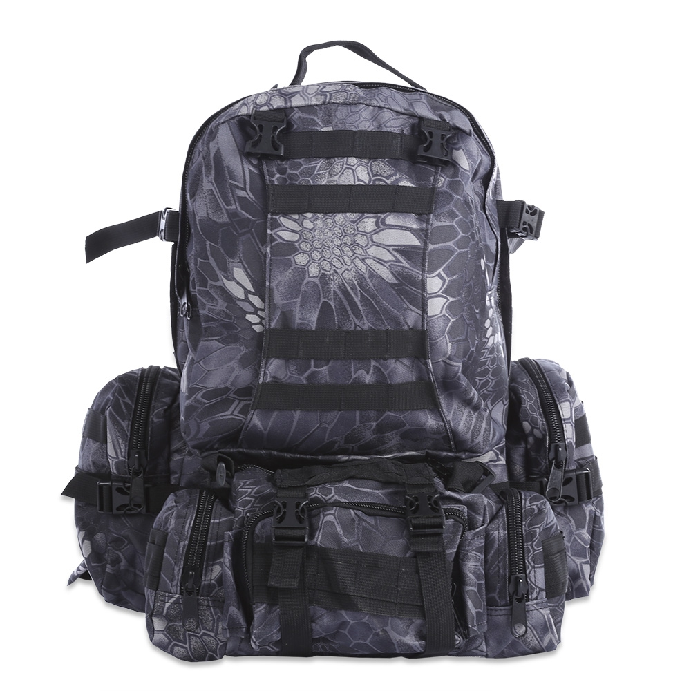 ФОТО 50L Multifunction Molle Tactical Camouflage Backpack 8 Colors Climbing Tactical Bag For Outdoor Sport Climbing Hiking Camping