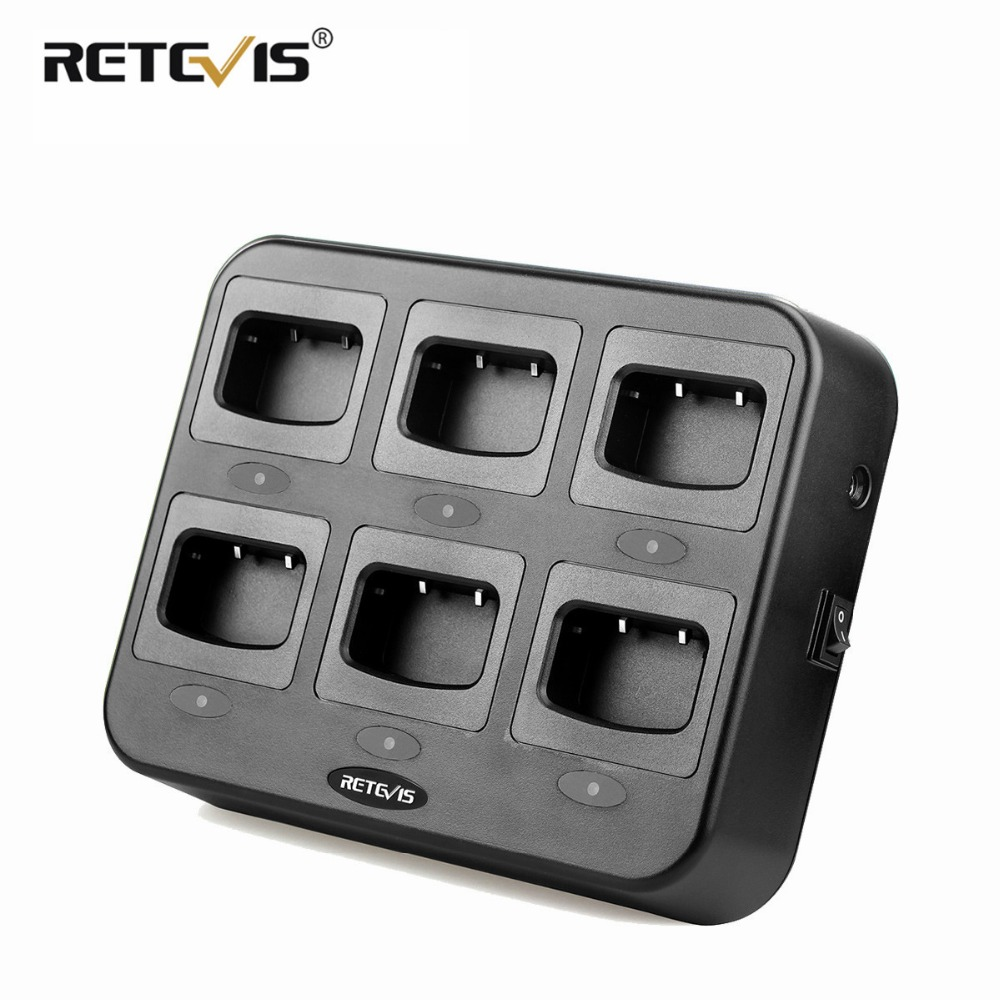 Retevis RTC777 Six Way Charger Multiple Safety Protection For Retevis H777 H 777 For Baofeng 888S