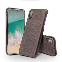QIALINO for iphone X Genuine Leather Case for iphone X 10 Real Leather Luxury Ultra slim Back Cover for 5.8 inches