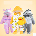 Free shipping wholesale Autumn and winter baby clothes baby clothing thick cotton animal style clothing romper baby clothes