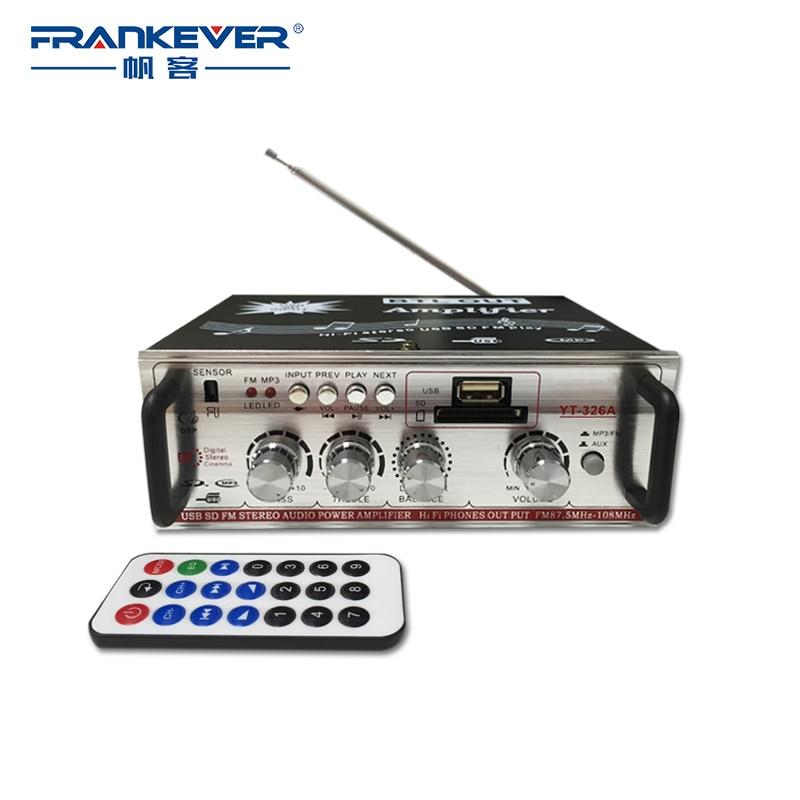 Серебристые hi fi звук Усилители домашние SD/USB Радио автомобильный Домашнее аудио Усилители домашние DC12V AC220V Amp для автомобильного объем Управление бесплатная доставка yt-326a