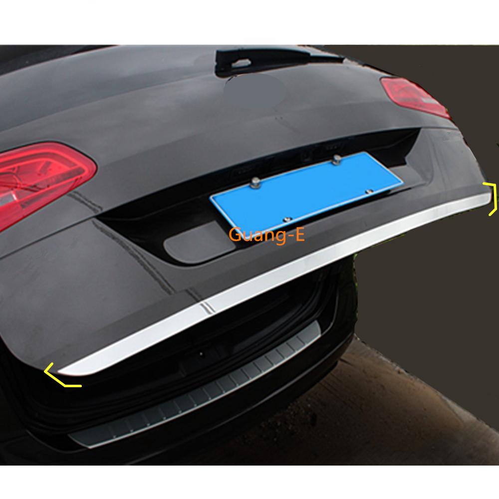 car cover Stainless steel Rear tail door bottom tailgate Trunk Lid Tail Gate trim For Volkswagen VW Sharan 2016 2017 2018 2019