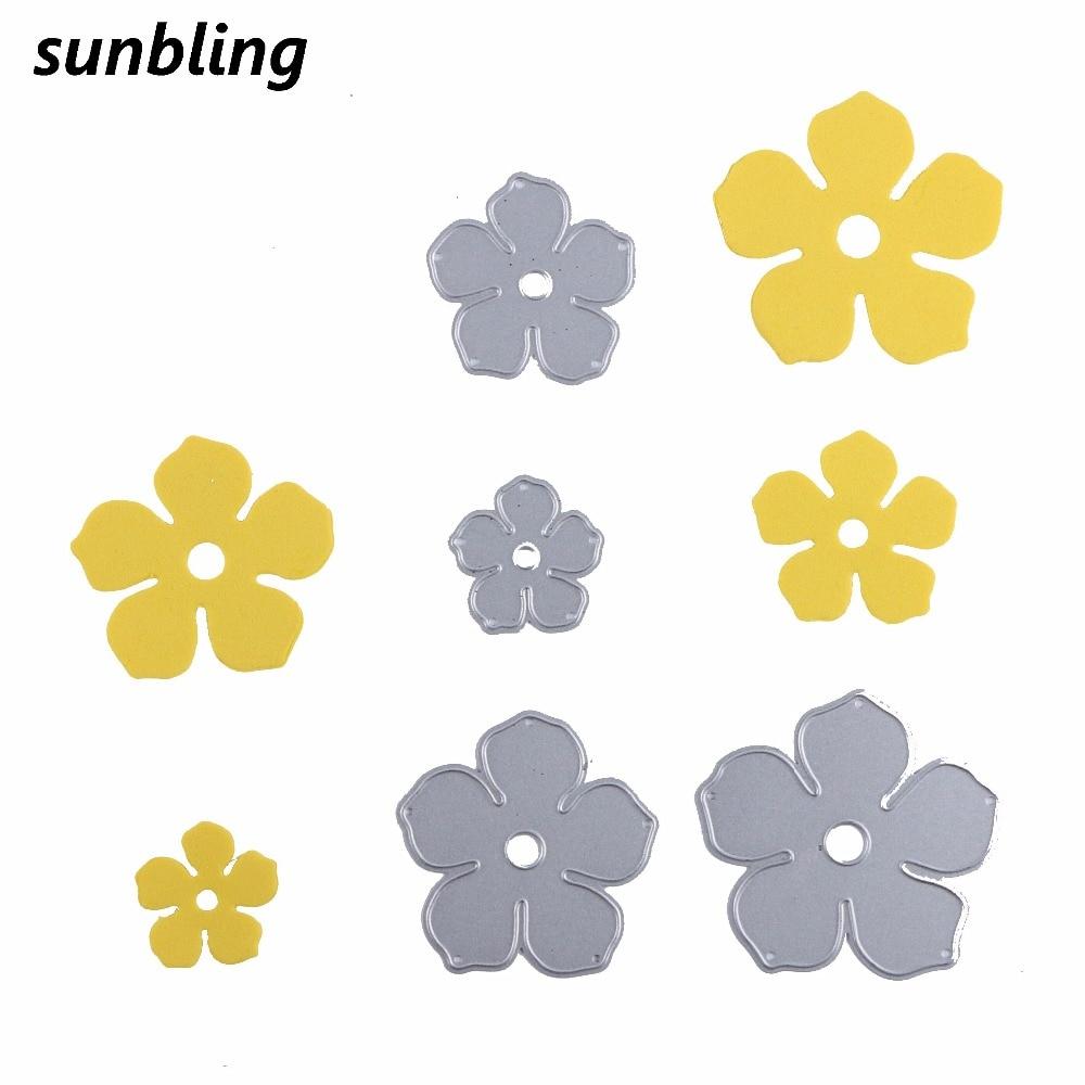 Sunbling Flower Cutting Dies Stencils For Painting Diy Folder