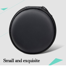 Portable Case for Earphone Mini Zippered Round Storage Hard cotton Bag Headset Box Headphone Card charger Cable earbud