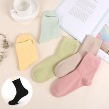 5pc/lot women Socks High Quality Cotton Sox Fashion Style Soft Warm keeping Solid color For lady Girls