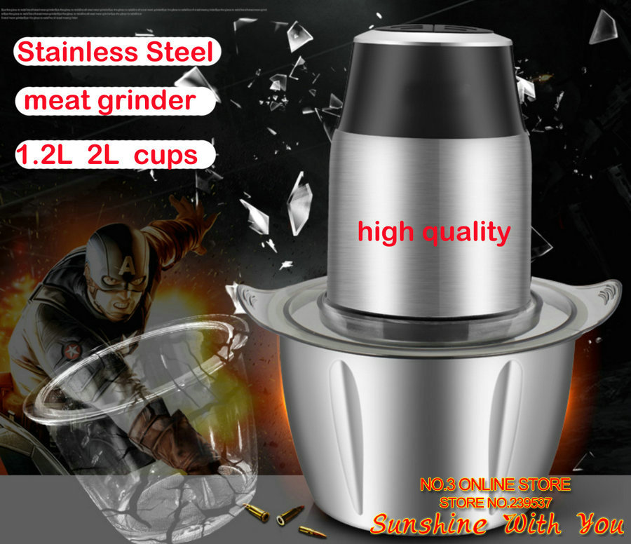 все цены на high quality meat grinder electric meat mincer home use meat mincing machine stainless steel meat chopper 350w meat crusher
