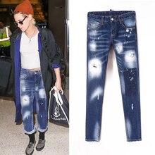 Осенние новые женские джинсы со средней талией, подходящие для повседневных случаев, популярные модные вещи, в этом магазине рекомендуется купить