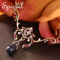Special New Vintage позолоченные Ожерелья & Подвески Оникс Роскошный Европейский Макси Ожерелье Себе Ювелирные Изделия для Женщин XL0016