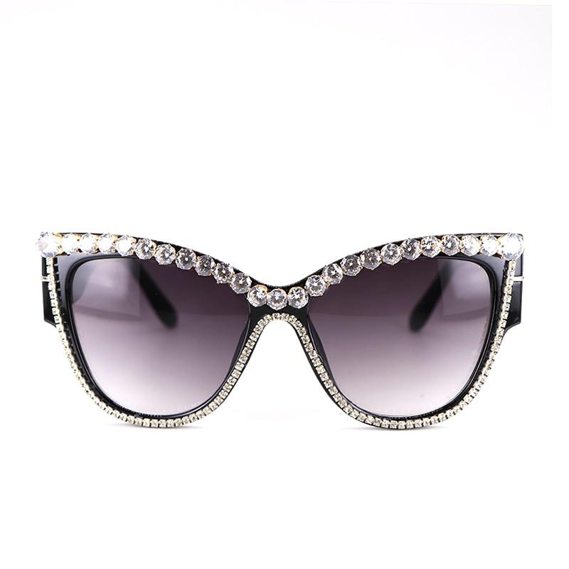 Retro Vintage Fashion Rhinestones Womens Cat Eye: Cat Eyes Sunglasses Fashion Rhinestone Women Oversize