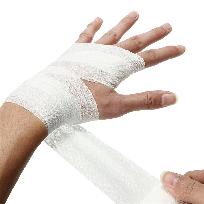 2.5cm*4.5m Security Protection Self-Adhesive Elastic Bandage Medical Health Care Treatment Gauze Tape Emergency First Aid Tool