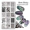 1 Шт. Born pretty различные геометрическые фигуры ногтей штампа шаблон плиты, прямоугольный ногтей штампа плиты  BPX-L017-L023