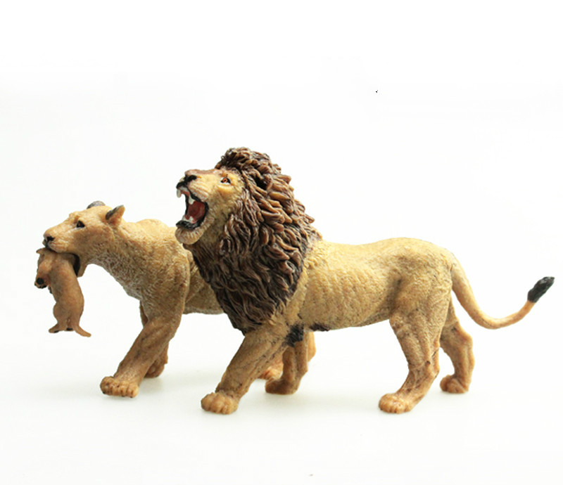 Model Toy Action-Figures Decoration Gift Wild-Animals Female Lions 13cm Baby Kid Savage-African