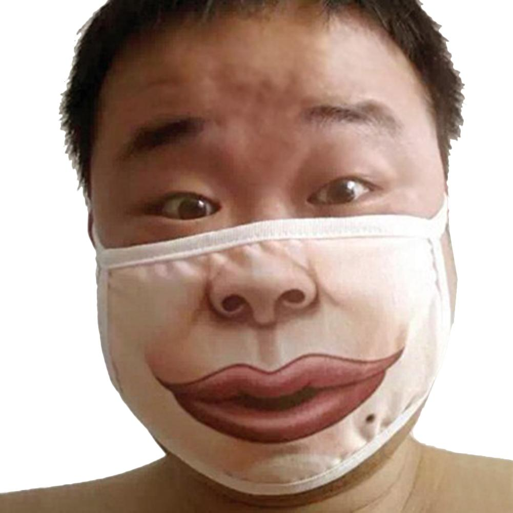 Funny Mouth Mouth Mask Adult Men Women Cotton Anti-Dust Warm Mask