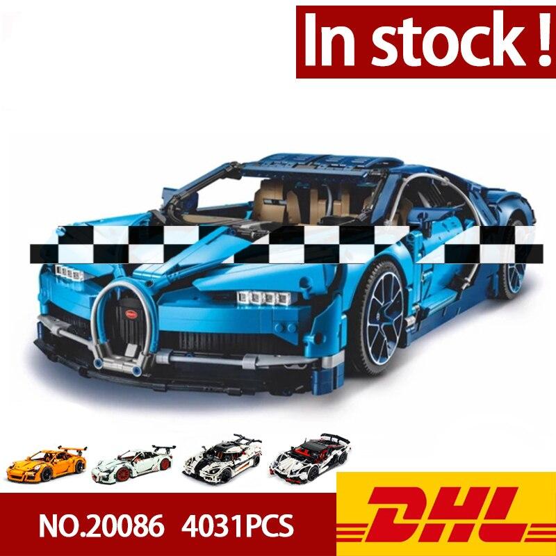En Stock DHL Lepining 20086 20001 20001B 23006 20087 Technic série voiture modèle blocs de construction briques compatibles 42083 cadeaux jouets