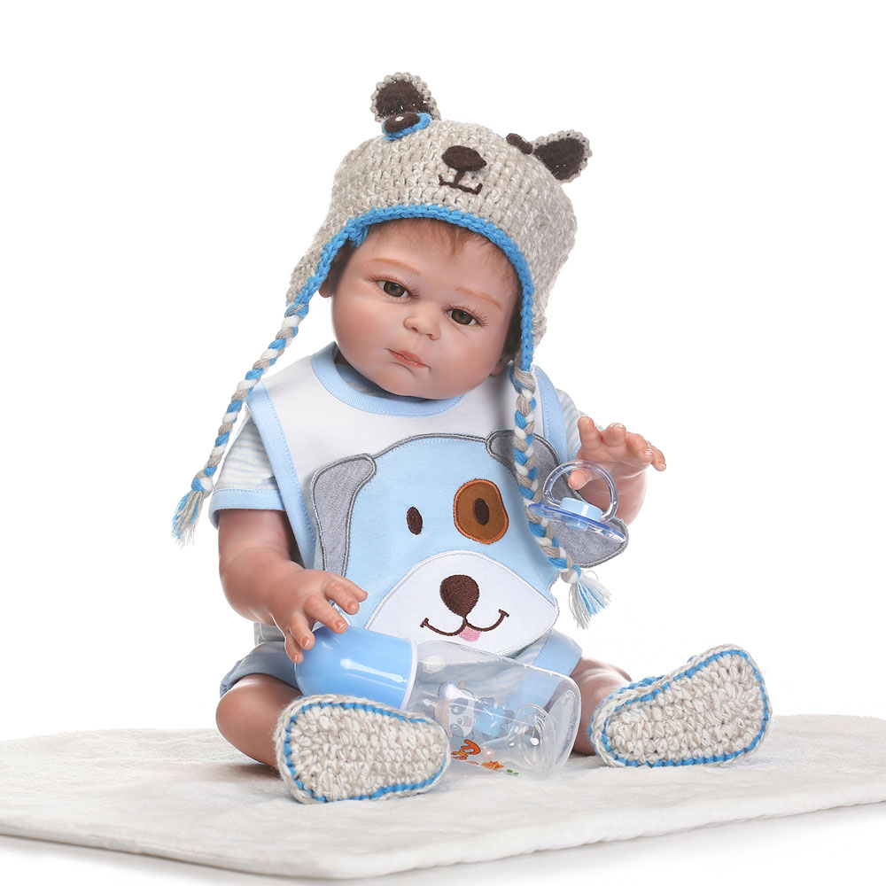 Blue Pup Fashionable Play House Toy Lovely Simulation Baby Doll With Clothes Size 2o Inch Overseas Warehouse Free ShippingBlue Pup Fashionable Play House Toy Lovely Simulation Baby Doll With Clothes Size 2o Inch Overseas Warehouse Free Shipping