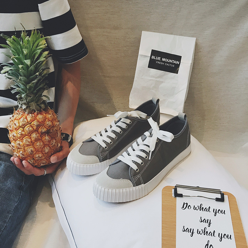 Brand 2019 Breathable Canvas Women Casual Shoes Vulcanize Fashion Sneakers Lace Up Leisure Footwears Boys Girls Outdoor shoes in Women 39 s Vulcanize Shoes from Shoes
