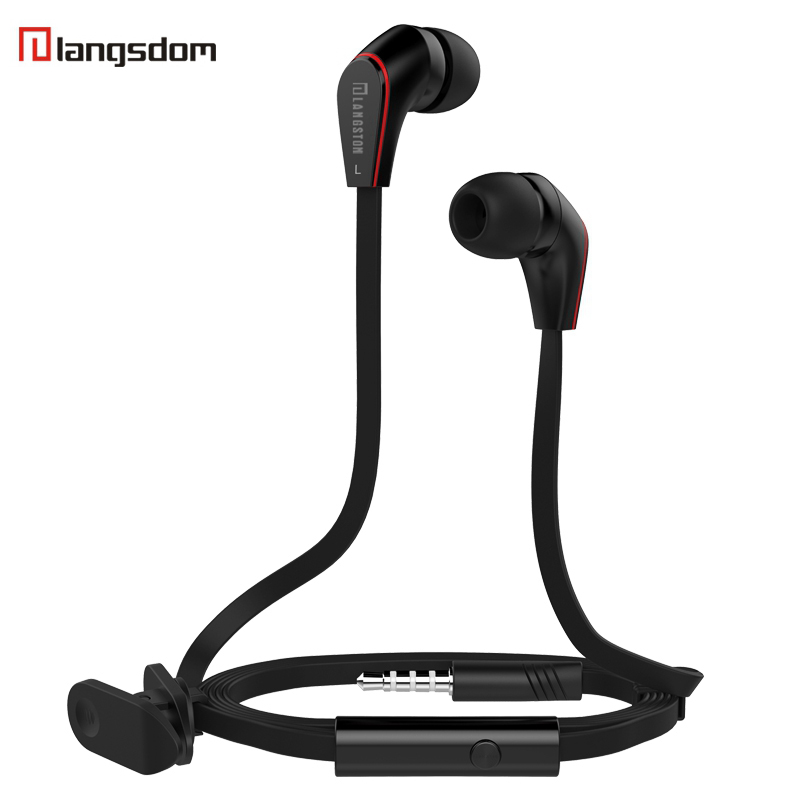 Original Langsdom JM12 earphones Super Bass 3.5mm Earphone with Microphone Headset For iphone xiaomi earphone for mobile phone original brand headphone langsdom jv23 jm23 earphone headsets super bass with mic for mobile phone auriculares pc