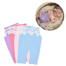 Baby Photography Prop Lace Baby Rompers Newborn Infant Baby Photo Shoot Accessories(China)