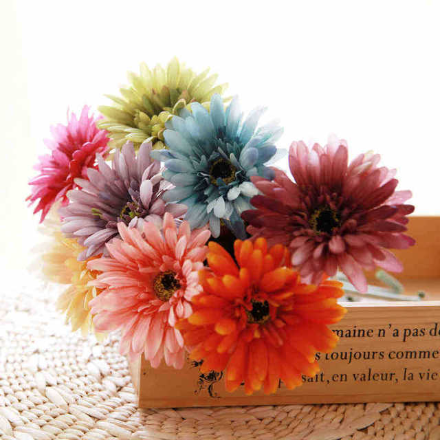 Ordinaire Silk Sunflower Artificial Daisy Flower Gerbera Daisy Bouquet Home Decor  Craft For Party Decoration