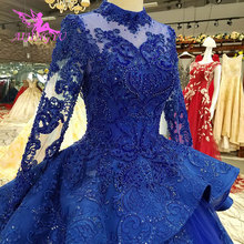 AIJINGYU 3D Wedding Dresses Muslim Gown Islamic Long On Ball Gowns Luxury Wedding Dress