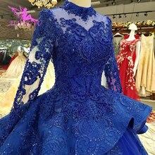 AIJINGYU 3D свадебное платье для мусульман, длинное исламское бальное платье, роскошное свадебное платье