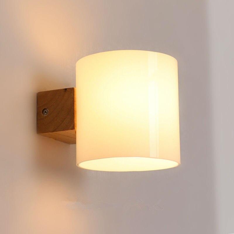 comprar sinfull simple moderna de madera maciza dormitorio aplique de la pared llev las luces para el hogar iluminacin interior de la