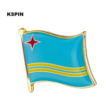 ARUBA National Flag Metal Pin Badge Decorative Brooch Pins for Clothes KS-0236(China)