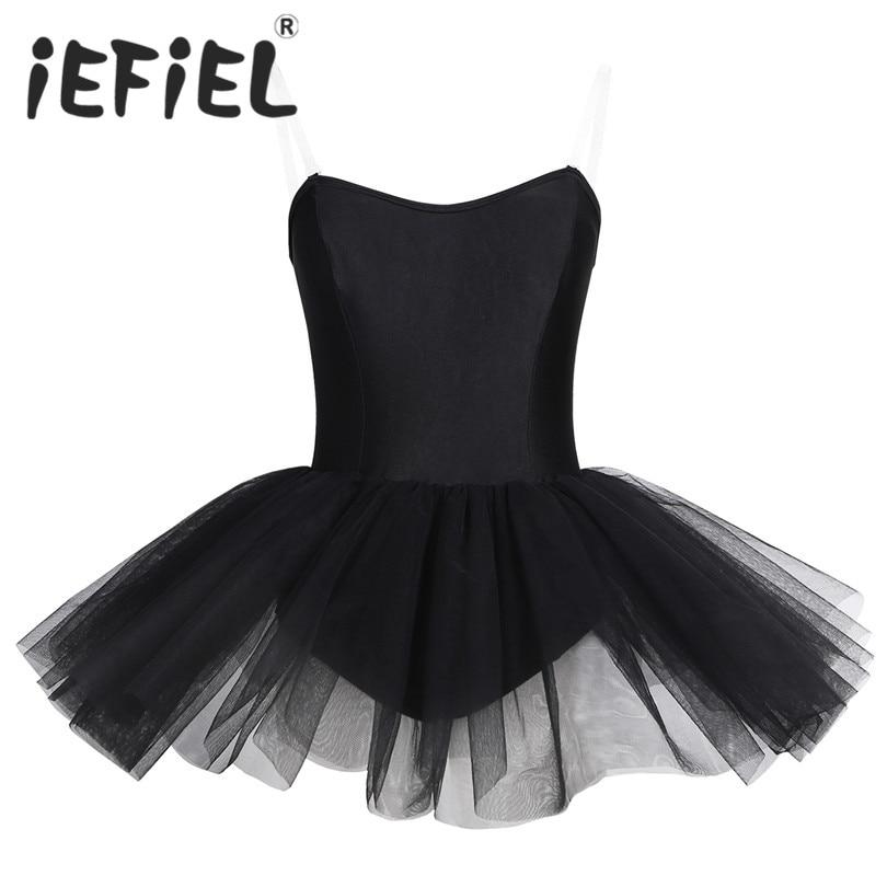 iEFiEL Women Girls Dance Costumes for Women Ballet Class Dancing Dress Adult Dance Dresses Stage Performance Practice Clothing