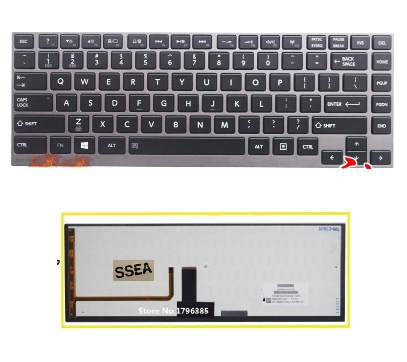 где купить SSEA New US Keyboard For Toshiba satellite U900 U920T U800 U800W U840 R700 Z830 R830 Z935 English Keyboard with gray frame по лучшей цене