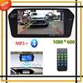 Alta Resolução 1024*600 Completa 7 ''TFT LCD Monitor de Visão Traseira Do Carro Espelho Do Bluetooth/MP5/Usb TF Slot de Estacionamento Sistema de Assistência