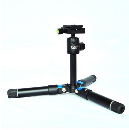 Appareil photo en alliage d'aluminium Mini trépied avec culbuteur pour Canon Nikon Sony appareil photo reflex numérique caméscope charge 3 kg + sac Portable