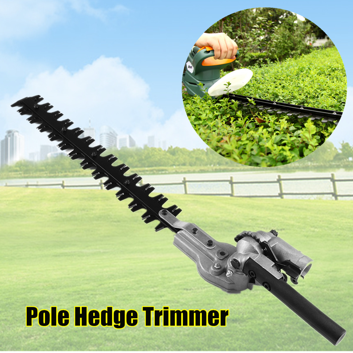 7/9 Teeth Pole Hedge Trimmer Bush Cutter Head Grass Trimmers For Garden Multi Tool Pole Chainsaw Garden Power Tools dreld carburetor carb for 1e40f 5 tb43 brush cutter chainsaw spare parts for grass trimmers and cutters garden tools parts