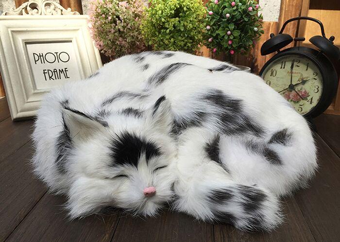 big simulation natural colour cat toy polyethylene & furs sleeping cat model about 29x31x10cm 1644 simulation cute sleeping cat 25x21cm model polyethylene