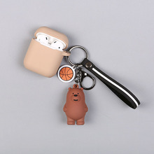 Cartoon Anime We Bare Bears Cute Three Animal Doll Keychains Women Car Bag Pendant Belt Trinkets Key Chains Porte Cle