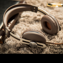 bass stereo metal headphones for mobile phone music wired headset noise cacelling headsets