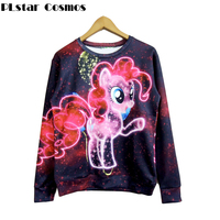 Free Shipping Autumn New Fashion Women Men My Little Pony Starry Sky 3D Galaxy Sweatshirts Hoodies