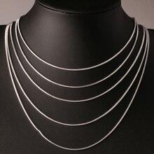 Стильная цепочка в виде змеи, модное мужское и женское ожерелье высокого качества, серебряная цепочка в виде ключицы, массивная цепочка для влюбленных пар, ювелирное изделие