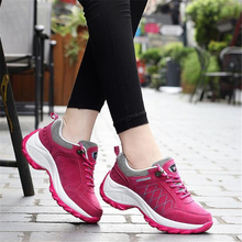 Women outdoor sports shoes pu leather running waterproof women Platform sneakers for Female walking jogging
