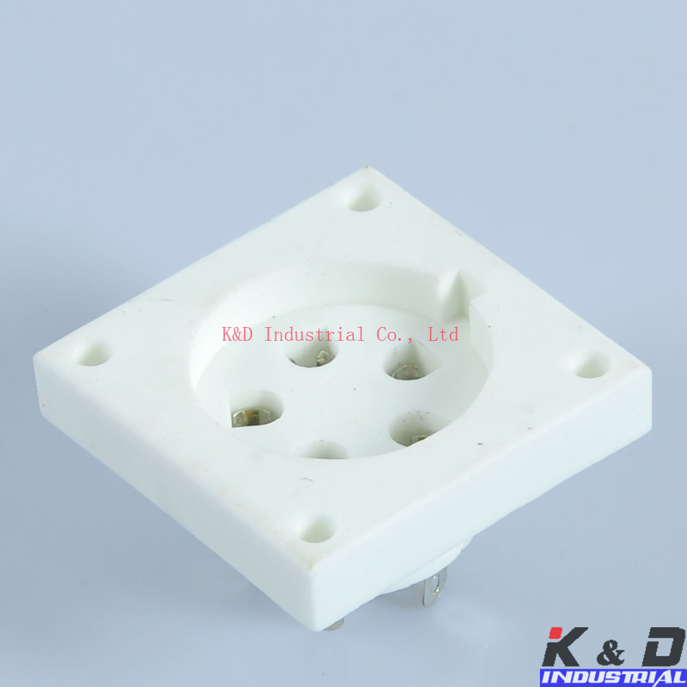 2PCS 5Pin Ceramic Tube Socket Aa Ba Be Cd Ce Da P5A P5 in Electrical Plug from Consumer Electronics