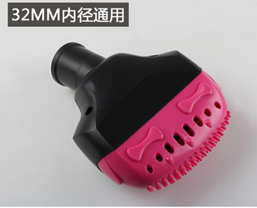 32mm household vacuum cleaner silicone pet brush plastic floor brush remove mites