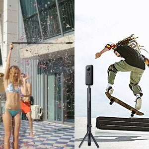 Image 5 - עבור Insta 360 Bullet זמן כף יד חצובה Selfie מקל חדרגל אחיזת andle עבור פנורמי מצלמה אחת X DJI אוסמו פעולה