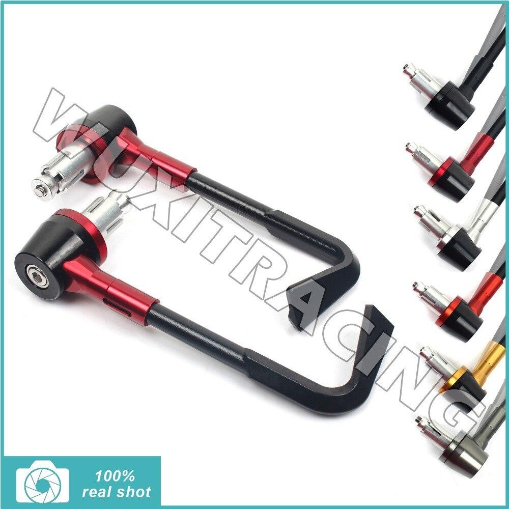 ФОТО New CNC Long Brake Clutch Lever Guard Bar End Protector for Honda CBR 600 900 1000 RR CBR F VFR RVF CB F HORNET Red