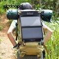 Dodocool portable plegable 12 w 10000 mah 2usb cargador solar power bank paquete externo de la batería para el teléfono inteligente 5 v usb-dispositivo de carga