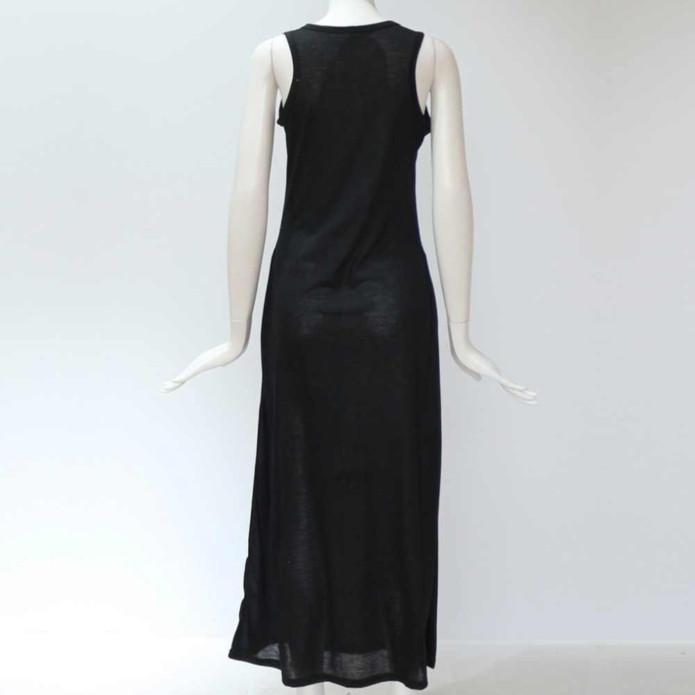 2019 Для женщин летнее, длинное, макси платье Повседневное кошка пляжное, богемное, с принтом сексуальное платье Вечеринка облегающее платье Vestidos женские длинные XXXL