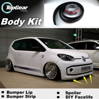 Bumper Lip Deflector Lips For Volkswagen VW Up Front Spoiler Skirt For Top Gear Fans to Cars Tuning / Body Kit / Strip