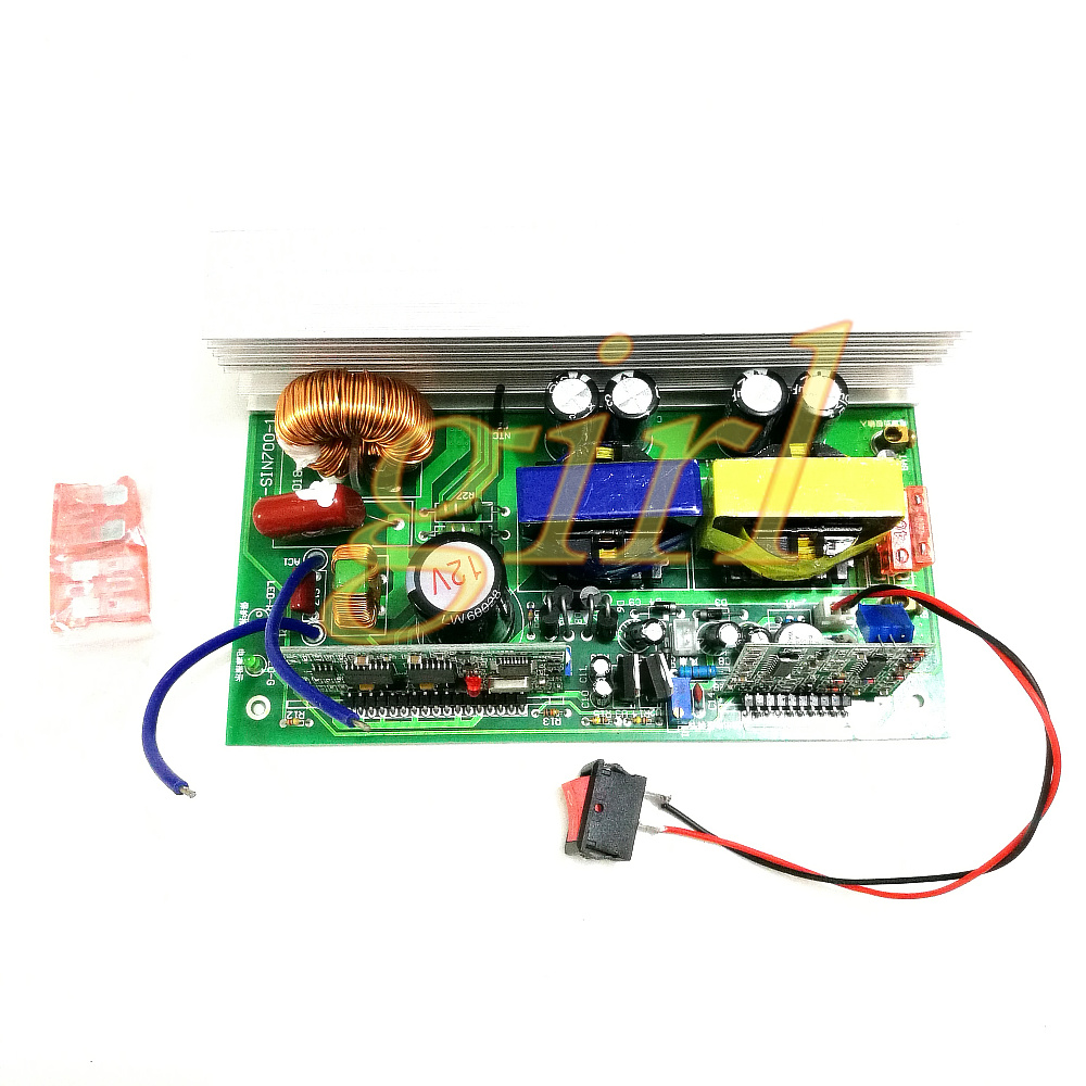 US $37 7 8% OFF|Pure sine wave 12V turn 220v24v to 220V inverter circuit  board solar converter board-in Switch Caps from Home Improvement on