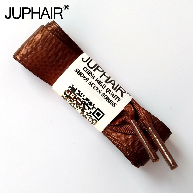 JUP1-12Pairs Coffee Wholesale Fashion Colorful Silk Ribbon Women Girl Flat Shoelaces Sneaker Sport Shoe Fantastic Shoelace Laces jup 50 pairs sneaker shoelaces skate boot laces outdoor sport casual multicolor bumps round shoelace hiking slip rope shoe laces