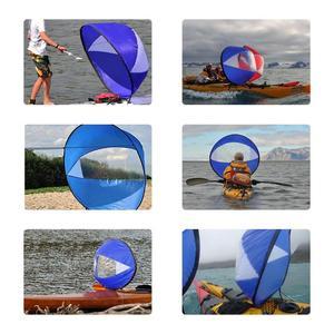 """Image 3 - 42 """"/108cm yelken katlanabilir kayık tekne rüzgar yelken Sup sörf tahtası yelken kano zamanlı kürek kürek tekneler rüzgar temizle pencere"""
