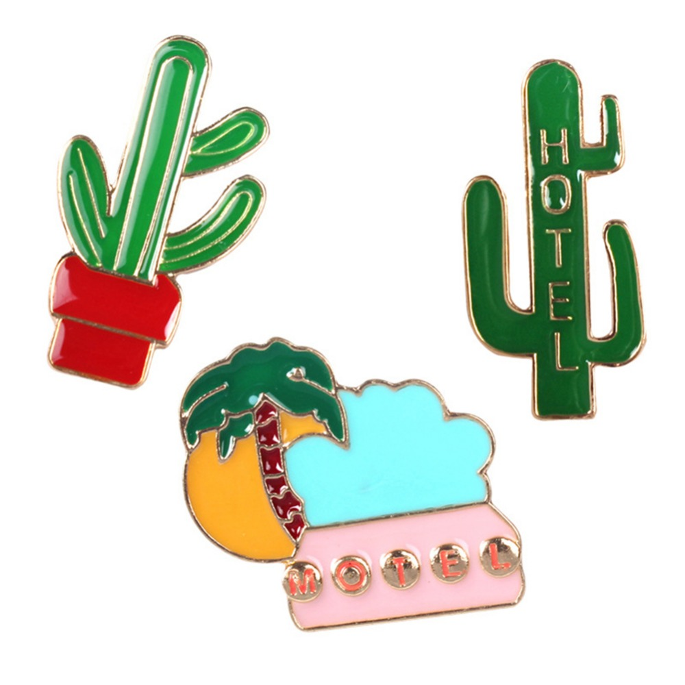 Brooches Jewelry Sets & More Lovely Creative Cute Cactus Plant Hotel Summer Holiday Badge Corsage Collar Cartoon Brooch Pins Jewelry #237449 In Short Supply