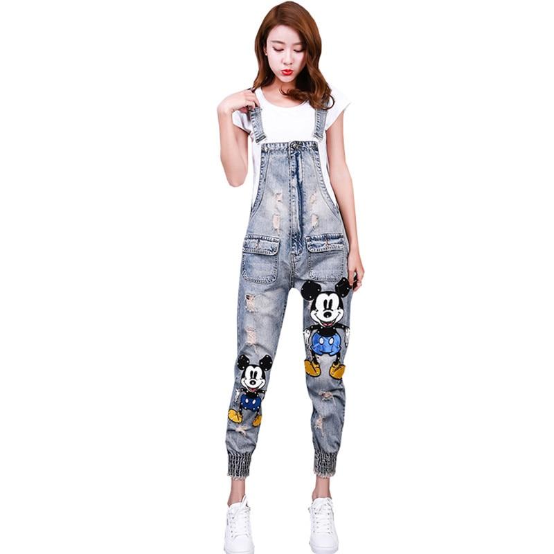 2018 New Summer Women Denim Jumpsuit Women Slim Jeans Jumpsuit